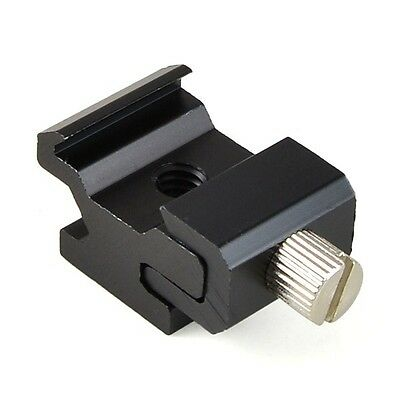 Large Adjustable Hot Shoe Adapter with 1/4'' Screw Thread for Nikon Canon