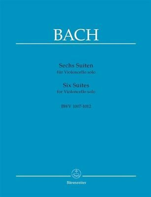 J.S. Bach Six Suites For Cello Book *NEW* Sheet Music, BWV 1007-1012 Barenreiter