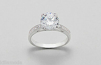 NEW Solid Sterling Silver AAA 9mm Solitaire Engagement Ring Size 8 Wedding