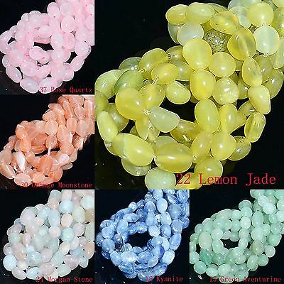 8-12mm Wholesale Natural Gemstone Nugget Round Spacer Loose Beads 16""