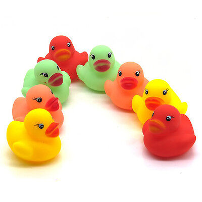 HOT 12pc Mini Colorful Bathtime Rubber Duck Bath Toy Squeaky Water Play Fun Kids