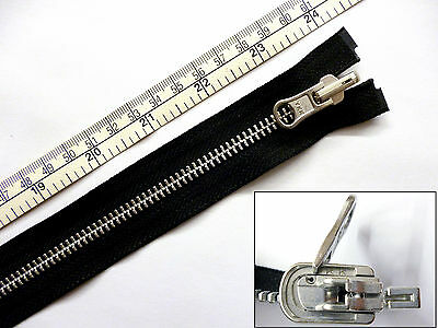 "Zip, Zipper 24""/ 60cm, Reversible, Flip Over, Open End, Metal YKK, Black"
