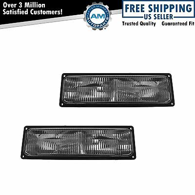 Corner Parking Turn Signal Light Lamp Left & Right Pair Set for Chevy GMC Truck