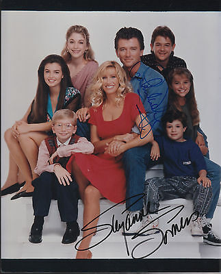 "Suzanne Somers & Patrick Duffy ORIGINAL AUTOGRAPH  8 x 10 ""Step by Step"" 13280"