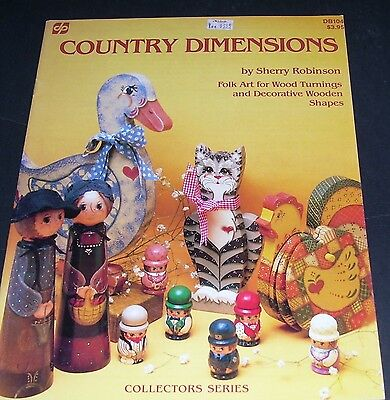 Country Dimensions Pattern Lesson Book Leaflet Decorative Tole Painting 1984 Oop