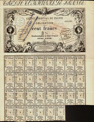 CREDIT  COMMUNAL DE FRANCE State / Government Bond dd 1870 w dividend coupons