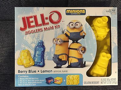 Jello Jell-O Despicable Me Minions Jigglers Mold Kit,kevin Paper Doll On Box,new
