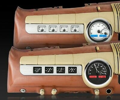 1942-48 Ford VHX Instrument System (Black Alloy Blue)
