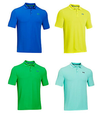 Under Armour Ua Men's Performance Polo Golf Tee M L Xl Blue Yellow Green New Nwt