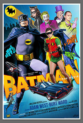 "Batman  Classic  Movie  Poster 8""x6""  Metal Plaque No Xc/25"