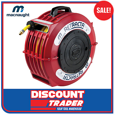Macnaught 12.5mmx15m RETRACTA High Quality Compressed Air Hose Reel AR200 AR2121