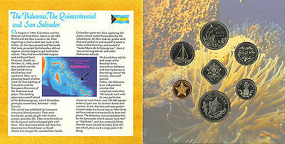 1492-1992 The Commonwealth of the Bahamas Coinage Brilliant UNC Collection