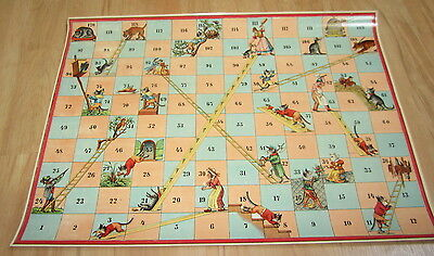 French Game PRINT Old c.1900 Antique FIRE DEPARTMENT Pompiers de Nanterre