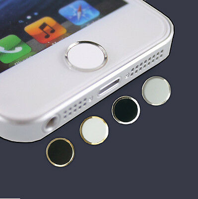 New Aluminium Touch ID Home Button Sticker For iPhone 5S 6S Plus iPad Air 2 Mini