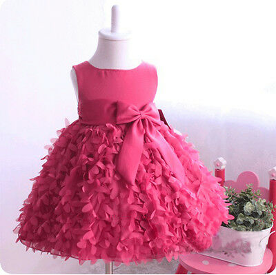 Girls Kids Fancy Princess Dress Toddler Baby Wedding Party Pageant Dresses 6M-5Y