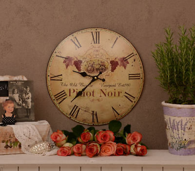Kitchen Clock Round Clock In French Style Vineyard Cottage Wall Clock