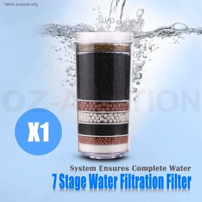 7 Stage Water Filter Purification System Ceramic Carbon Mineral Ball Dispenser