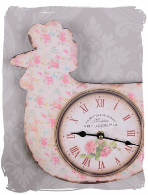 Wall clock kitchen clock rooster shabby chic clock country style wall clock new