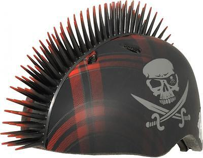 NEW Krash Plaid Jolly Roger Mohawk Raskullz Pirate Child's Helmet 7+ Safety