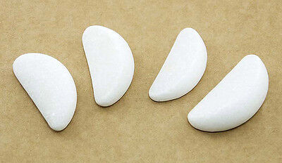 Hot Stone Massage: MARBLE CRESCENT MOON EYE STONES, 4.2 x 2 x 1.2 cm, Pack of 4