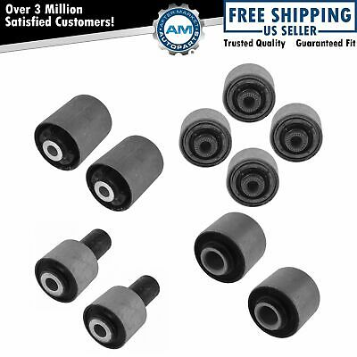 Control Arm Bushing Upper Lower Front Rear Kit Set of 10 for Lexus LS460 LS600H