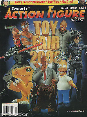 Tomart's Action Figure Digest Issue 73  Rocky Horror Max Steel Power Rangers WWF