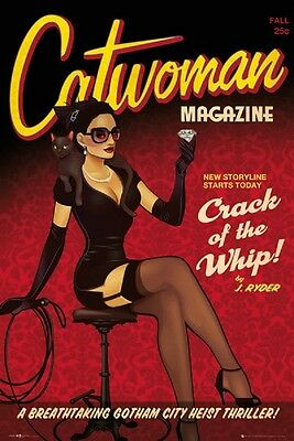 24x36 CATWOMAN POSTER CRACK THE WHIP DC COMICS BATMAN Shrink Wrapped