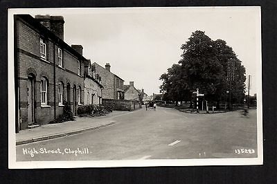 Clophill - High Street - real photographic postcard