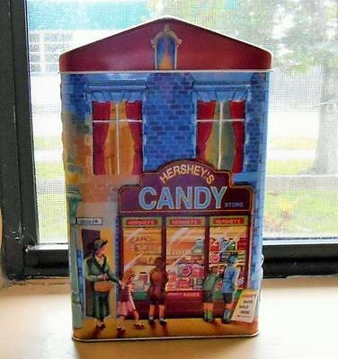 Hershey's Village Series Canister #1 Candy Store Collector's Tin Made In England