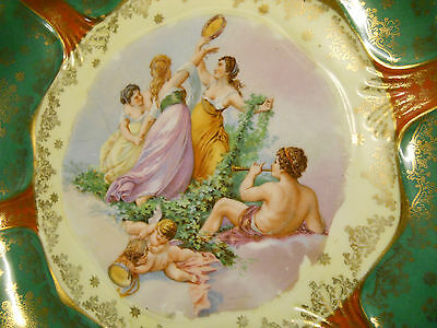 Royal Vienna portrait charger plate plaque with cherubs