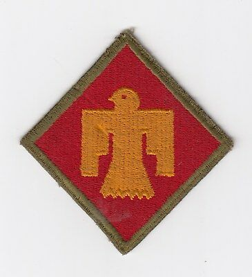 Us Army Patch - 45Th Infantry Division - Od Border - Original Wwii