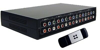4-Port HD/SD Component Video Stereo Digital Audio Switcher With IR Remote