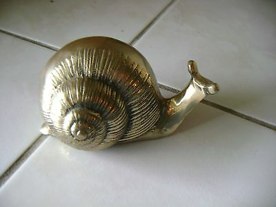 Brass Snail 5-1/2'' Long x 3'' Tall Excellent Condition