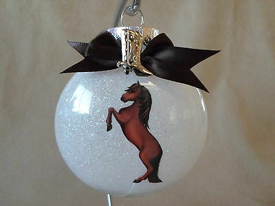 """VERY Unique Handmade Brown Horse  3"""" Acrylic Round Ornament~Made In The USA, NEW"""