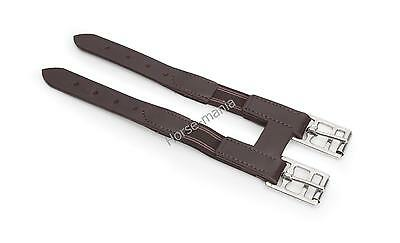 Shires Leather Girth Extender With Elastic Insert Black Or Havana Brown (493)