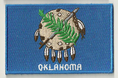 PP-368 Besticktes patch applikation patch patch flagge OKLAHOMA heißklebend