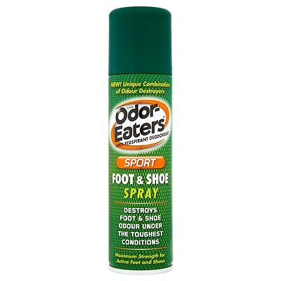 ODOR EATERS SPORT FOOT & SHOE SPRAY Antiperspirant Deodoran For Ordor & Wetness