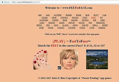 FeetToFace™ app game is FOR SALE
