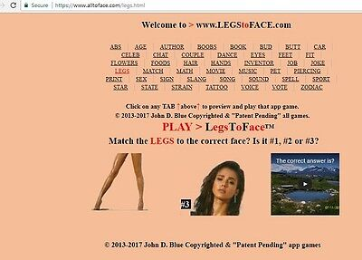 LegsToFace™ app game is FOR SALE