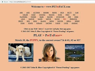 PetToFace™ app game is FOR SALE