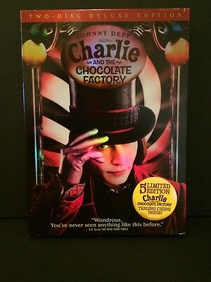 Charlie and the Chocolate Factory DVD Movie 2005 2-Disc Widescreen Johnny Depp