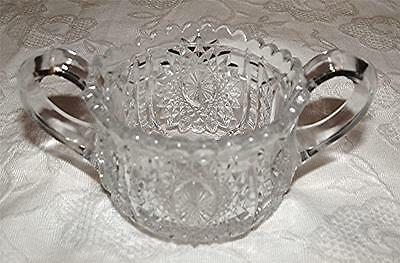 Beautiful Antique 1910 Indiana Glass Co. Pressed Glass Child Size Sugar Bowl-Euc