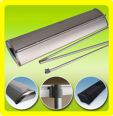 """33x79"""" DELUXE Retractable Roll Up Trade Show Display Banner Sign Stand"""