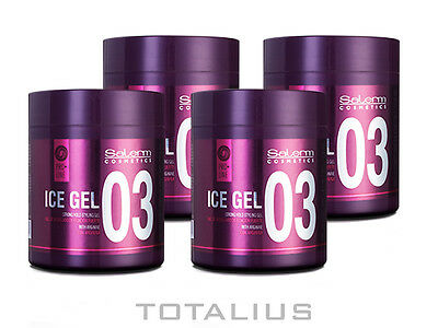SALERM ICE GEL 500 ml CERA CAPILAR - 4 UNIDADES