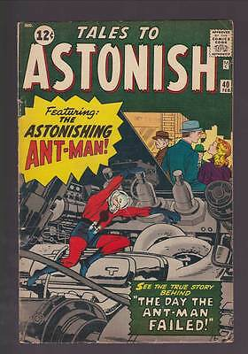 Tales to Astonish # 40  The Day Ant-Man Failed !  grade 4.0 movie scarce book !