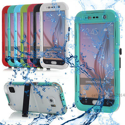 Waterproof Shockproof Back Clear Case Hard Cover Skin For Samsung Galaxy S6