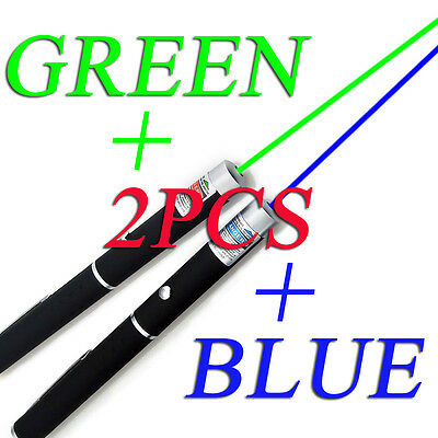 MILITARY 5MW Green Blue Laser Pointer Pen Lazer High Power Powerful Beam Light