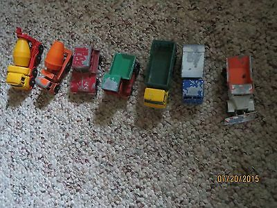 Vintage 1960'S LOT OF 7 MATCHBOX TRUCKS MADE IN ENGLAND BY LESNEY