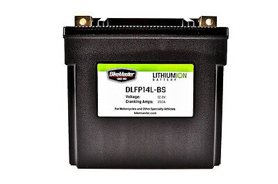 BikeMaster Lithium Ion Battery 250 CCA (2.9 lbs)  DLFP-14L-BS