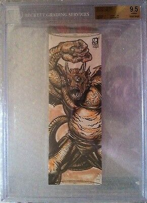 BGS 9.5 2014 Marvel Premier QUAD PANEL SKETCH 1/1 Grogg by Ramsey Sibaja